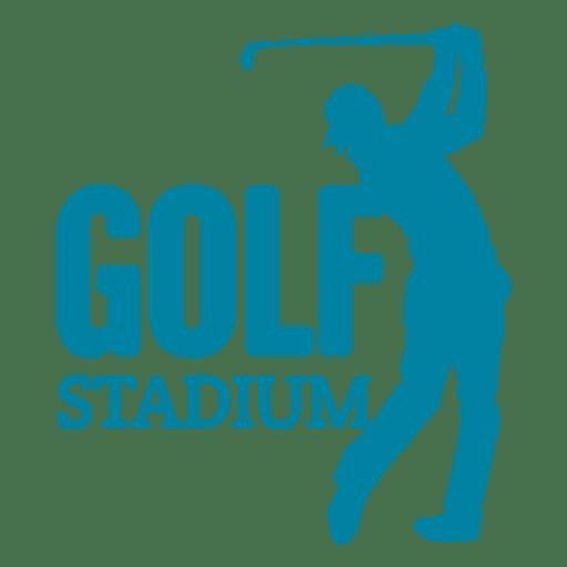 Logotipo do esporte de golfe Transparent PNG