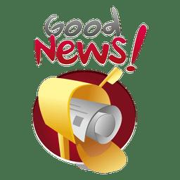Buenas noticias logotipo de correo