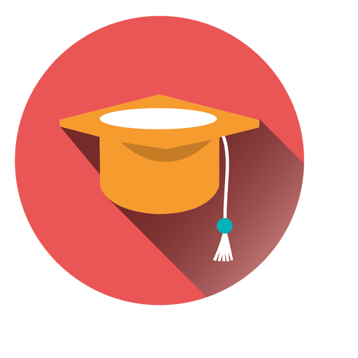 Graduation hat round icon Transparent PNG