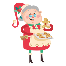 Grandma with cookies cartoon