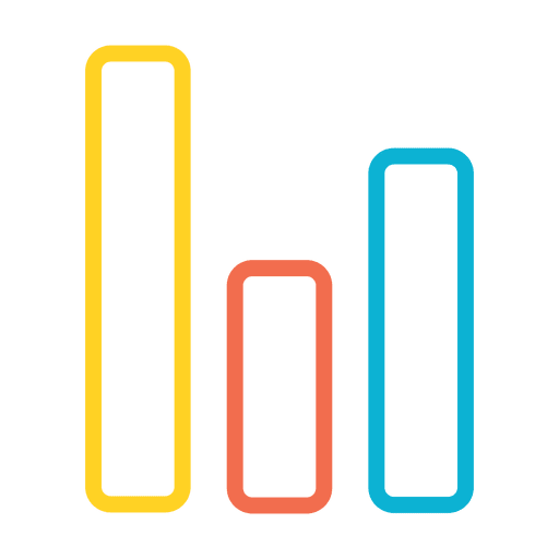 Graph bar chart icon Transparent PNG