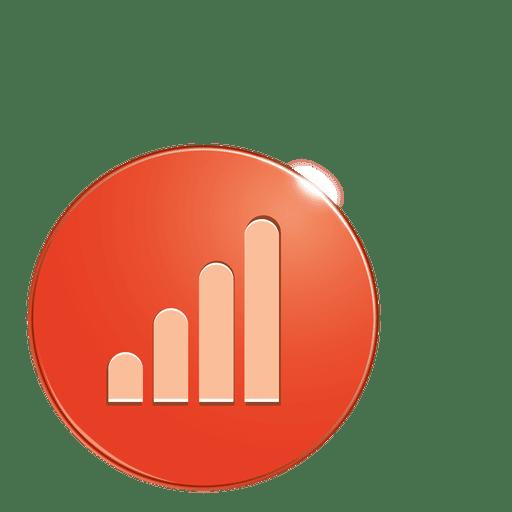 Graph bubble icon Transparent PNG