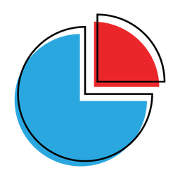 Graph pie chart icon