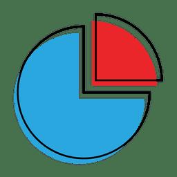 Ícone de gráfico de pizza de gráfico