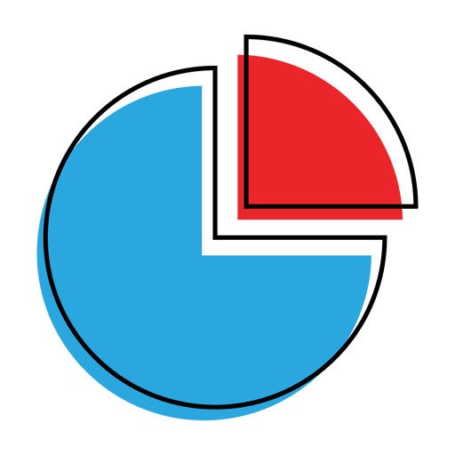 Graph pie chart icon - Transparent PNG & SVG vector