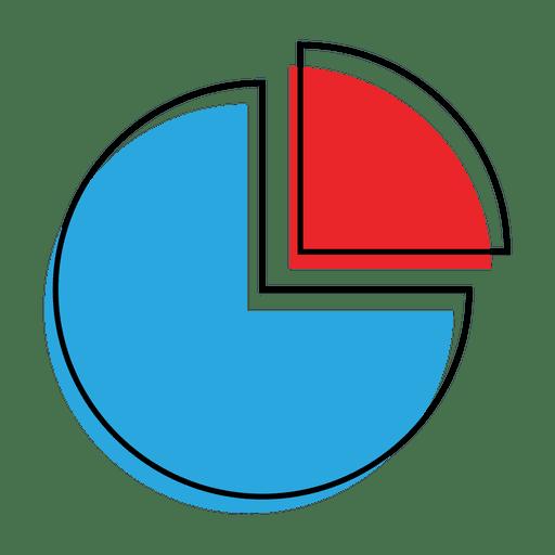 Icono de gráfico circular de gráfico