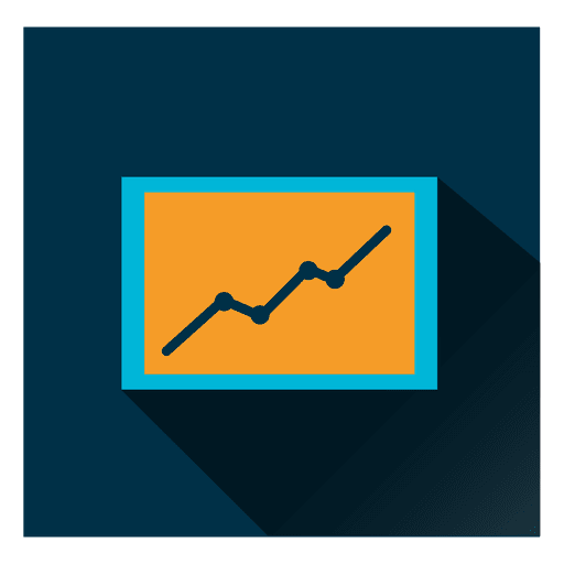 Graph square icon Transparent PNG