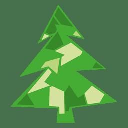 Ícone de árvore de Natal verde