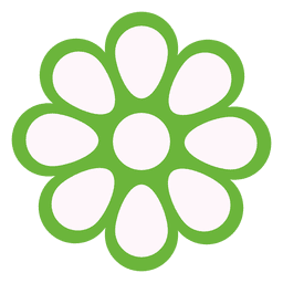 Green floral icon 1