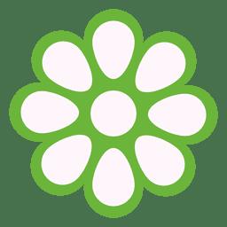 Ícono floral verde 1