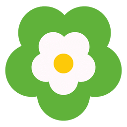 Green flower icon