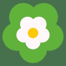Icono de flor verde