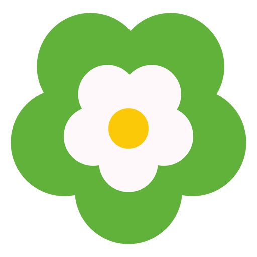 Green flower icon Transparent PNG