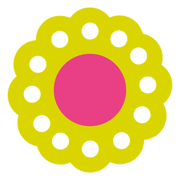 Green flower icon 5