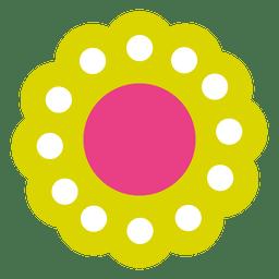 Icono de flor verde 5