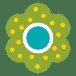 Icono de flor verde 6