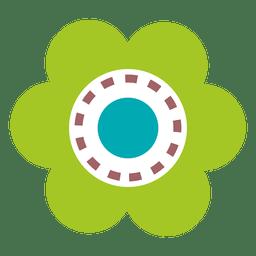 Green flower icon 7