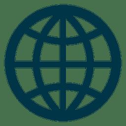 Raster-Erde-Symbol