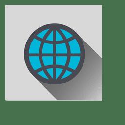 Grid earth ícone quadrado