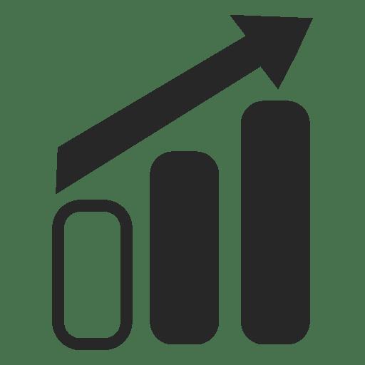 Gráfico de barras de crecimiento Transparent PNG