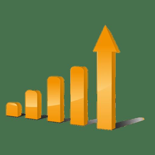 Gráficos de barras de crecimiento Transparent PNG