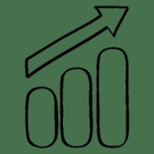 Growing graph doodle Transparent PNG
