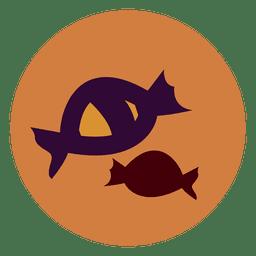 Icono de círculo de dulces de Halloween