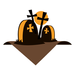 etiqueta cementerio de Halloween