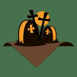 etiqueta cemitério do Dia das Bruxas