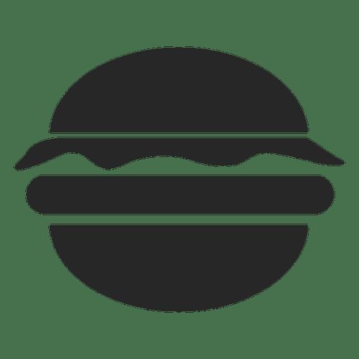Icono plano hamburguesa