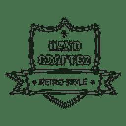 Mão crafted selo retrô