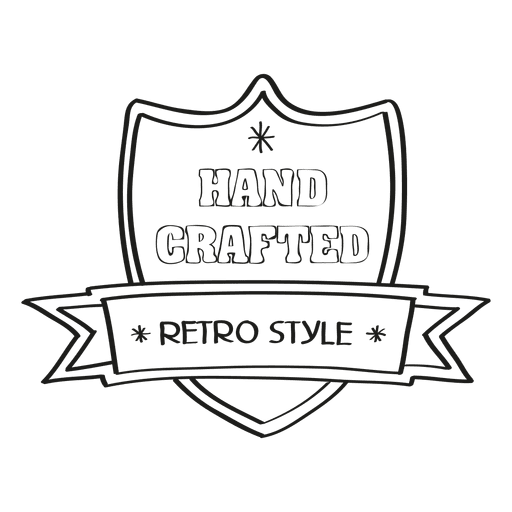 Hand crafted retro seal Transparent PNG