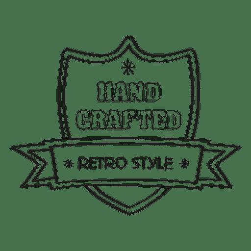 Mão crafted selo retrô Transparent PNG