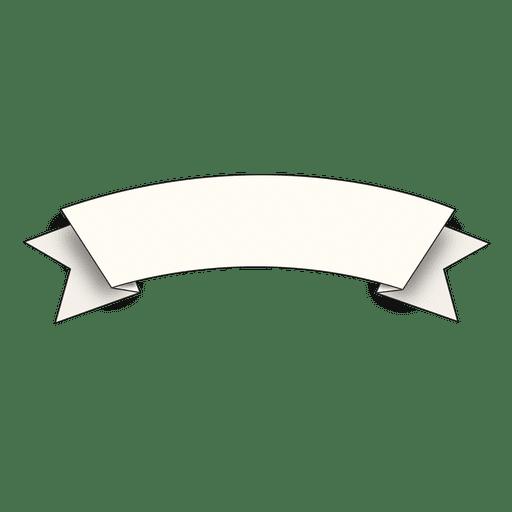 Hand drawn curve ribbon