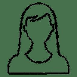 Hand drawn female avatar