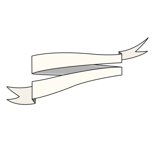 Hand drawn folded ribbon Transparent PNG