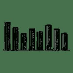 Dibujado a mano barras gráficas