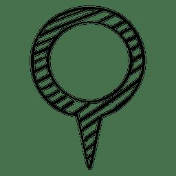 Desenho marcador de localização