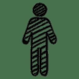 Mão desenhada sinal masculino