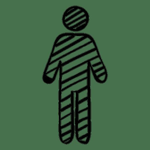 Hand gezeichnetes männliches Zeichen Transparent PNG