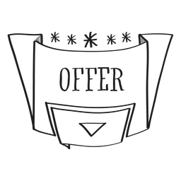 Hand drawn offer badge