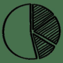 Dibujado a mano gráfico circular