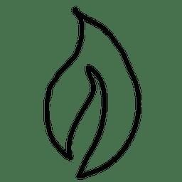 Dibujado a mano hojas de la planta 1