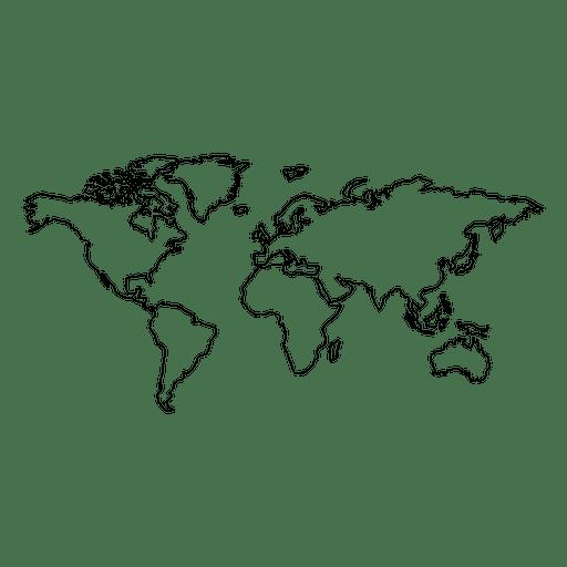 Mapa do mundo desenhado de mão - Baixar PNG/SVG Transparente