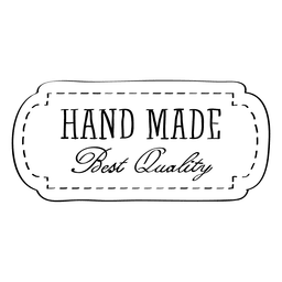 Hand made quality label