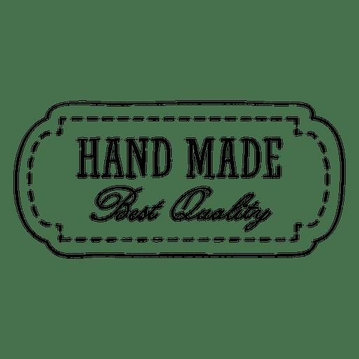 Rótulo de qualidade feito à mão Transparent PNG