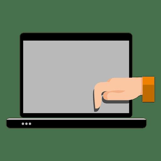 Mano en la computadora portátil Transparent PNG