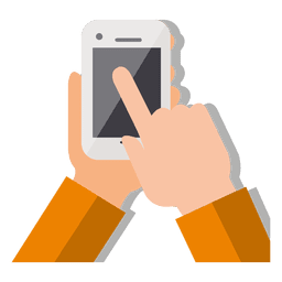 Teléfono inteligente con la mano
