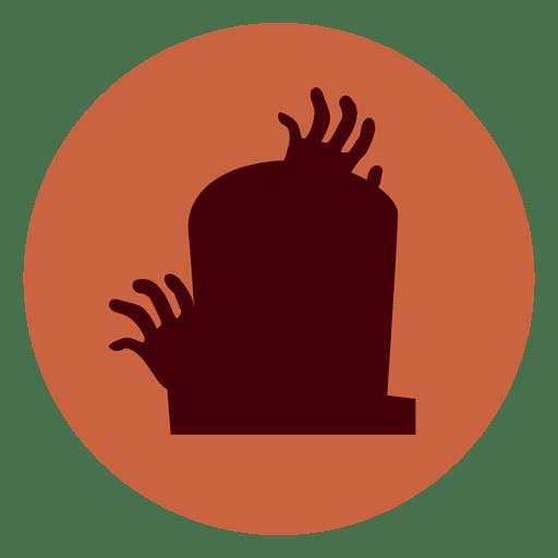 Ícone de círculo de lápide de mãos Transparent PNG