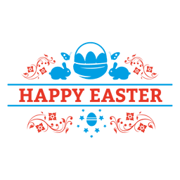 Happy easter badge decoration